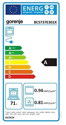 Gorenje Profi Plus Set Hei/ßluft//Einbauherdset mit HiLight-Kochfeld und Dampf-Funktion//GentleClose//versenkbare Knebel// 71 L Garrraum
