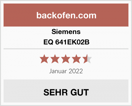 Siemens EQ 641EK02B Test