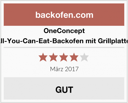 OneConcept All-You-Can-Eat-Backofen mit Grillplatte  Test