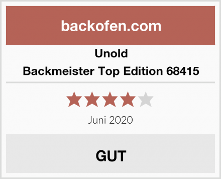 Unold Backmeister Top Edition 68415 Test