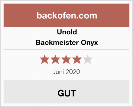 Unold Backmeister Onyx Test