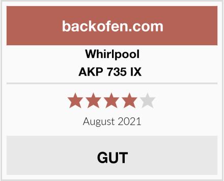 Whirlpool AKP 735 IX  Test