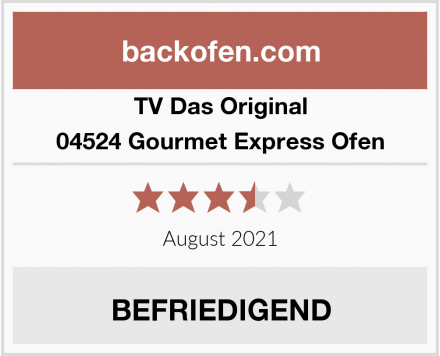TV Das Original 04524 Gourmet Express Ofen Test