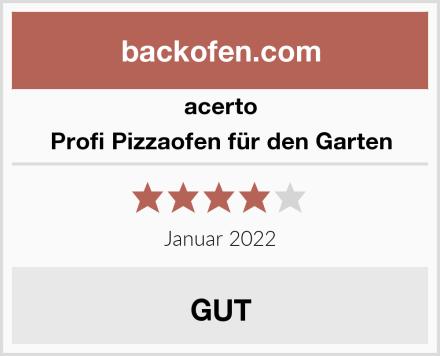 acerto Profi Pizzaofen für den Garten Test