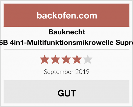 Bauknecht MW 338 SB 4in1-Multifunktionsmikrowelle Supreme Chef Test