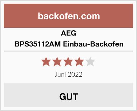 AEG BPS35112AM Einbau-Backofen Test