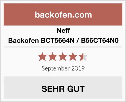 Neff Backofen BCT5664N / B56CT64N0 Test