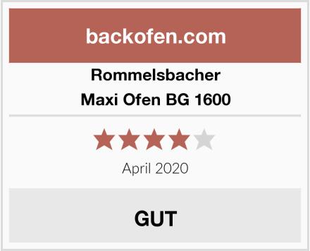 Rommelsbacher Maxi Ofen BG 1600 Test