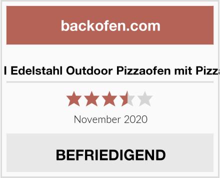DaDa I Edelstahl Outdoor Pizzaofen mit Pizzastein Test