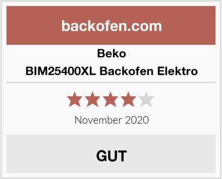 Beko BIM25400XL Backofen Elektro Test