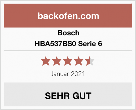 Bosch HBA537BS0 Serie 6 Test
