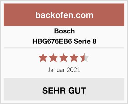 Bosch HBG676EB6 Serie 8 Test
