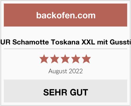PUR Schamotte Toskana XXL mit Gusstür Test