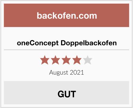 oneConcept Doppelbackofen Test