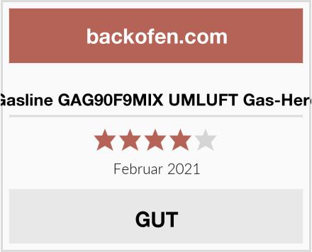Gasline GAG90F9MIX UMLUFT Gas-Herd Test